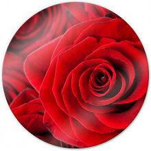Wandbilder - Glasbild Rose - rund