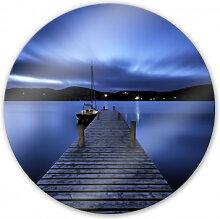 Wandbilder - Glasbild Silent Lake - rund