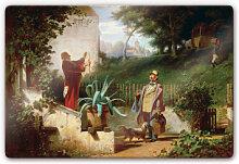 Wandbilder - Glasbild Spitzweg - Die Jugendfreunde