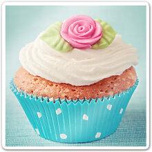 Wandbilder - Glasbild Sweet Cupcake - quadratisch