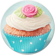 Wandbilder - Glasbild Sweet Cupcake - rund