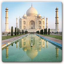 Wandbilder - Glasbild Taj Mahal - quadratisch