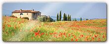 Wandbilder - Glasbild Toskana - Panorama 1