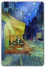 Wandbilder - Glasbild van Gogh - Café-Terrasse am Abend