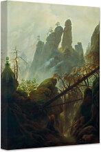 Wandbilder - Leinwandbild Friedrich - Felsenschlucht