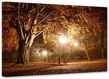 Wandbilder - Leinwandbild Herbst im Park