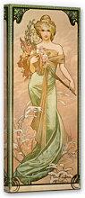 Wandbilder - Leinwandbild Mucha - Jahreszeiten Frühling 1