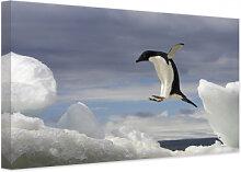 Wandbilder - Leinwandbild NG Pinguin Fly