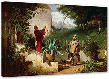 Wandbilder - Leinwandbild Spitzweg - Die Jugendfreunde