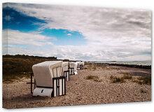 Wandbilder - Leinwandbild Strandkörbe auf Hiddensee