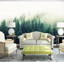 Wandbilder Natur Nebel Bäume Wald Tapete für