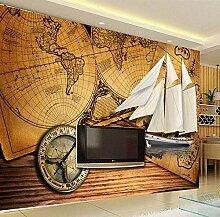 Wandbilder Tapete Wand Muralshd 3D Weltkarte mit