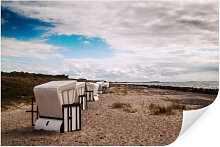 Wandbilder - Wallprint W - Strandkörbe auf Hiddensee