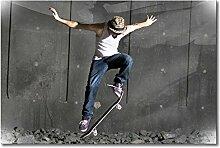 WandbilderXXL skate-120x80 Das stylische