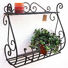 Wandblumenhalter Sebino Blumenständer aus Metall Wandregal Blumenregal Regal