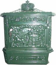 Wandbriefkasten Antik Jugendstil Grün Briefkasten Postkasten Mod1