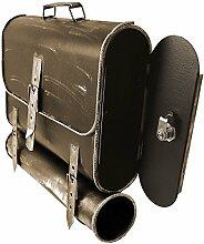 Wandbriefkasten Mailbox Postkasten Postbox Posttasche mit Zeitungsfach Zeitungsrolle / Gold