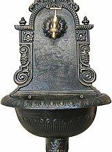 Wandbrunnen Gusseisen, antik finish, mit Messing