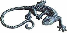 Wanddeko Eidechse zum Hängen Gusseisen grau 23 cm (921212) Gartendeko Gecko