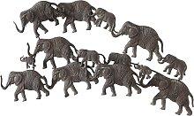 Wanddeko Elefanten, braun