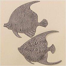 Wanddeko Fisch 2er-Set (390880) Gartendeko