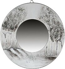 Wanddeko MIRROR TREES Spiegel mit Baummotiv rund