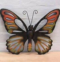 Wanddeko Schmetterling orange Wanddekoration Garten Deko Wand Butterfly
