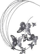 Wanddeko Schmetterlinge, grau
