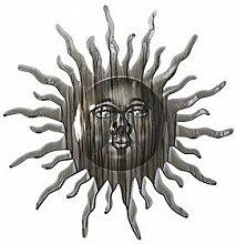 Wanddeko Sonne, Gartendeko im Landhaus Stil, Gartenfigur aus Eisen