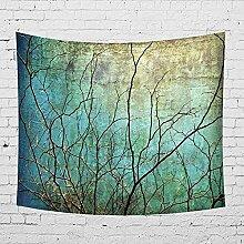 Wanddeko wandteppich Äste Tapisserie Wandbehang