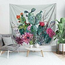 Wanddeko wandteppich Kaktus Tapisserie Wandbehang