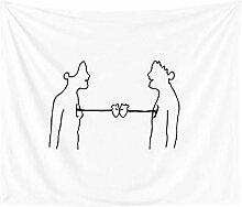 Wanddeko wandteppich Nordic Sederhana In Permadani