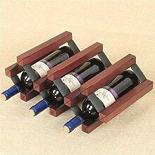 Wanddekoration Anwendung 5 Flaschen Weinregal -