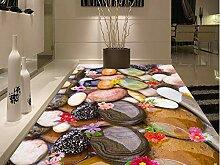 Wanddekoration Blumen kopfsteinpflaster boden 3D