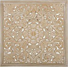 Wanddekoration Braun 60 x 60 cm mit eleganten