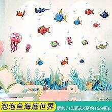 Wanddekoration Cartoon Ozean Aufkleber Wandtapete