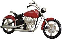 Wanddekoration in Rot Schwarz Motorrad