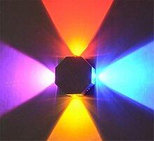 Wanddekoration Lampe, kreative quadratische Metall