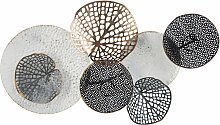 Wanddekoration Schwarz/Weiss/Kupfer aus Metall