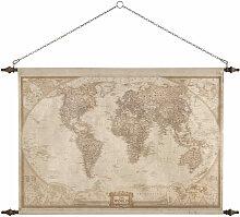 Wanddekoration Weltkarte, 117x129