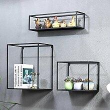 Wanddekorativ Wände Regal Retro Eisen Rahmen Wohnzimmer Hintergrund Wände Kreative Regal Wände Kombination Bücherregal Dekoration Wandhalterung Regal ( Farbe : B )