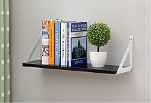 Wanddekorativ Wall Shelf Einfache Bücherregal TV Wand Dekorative Wand Wandhalterung Regal ( Farbe : A , größe : 60 )
