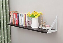 Wanddekorativ Wall Shelf Einfache Bücherregal TV Wand Dekorative Wand Wandhalterung Regal ( Farbe : A , größe : 90cm )