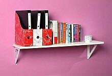Wanddekorativ Wall Shelf Einfache Bücherregal TV Wand Dekorative Wand Wandhalterung Regal ( Farbe : B , größe : 90cm )