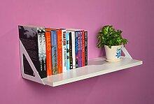 Wanddekorativ Wall Shelf Einfache Bücherregal TV Wand Dekorative Wand Wandhalterung Regal ( Farbe : B , größe : 60 )