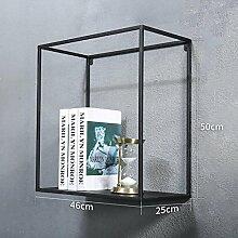Wanddekorativ Wand-Regal Retro Eisen-Rahmen Wohnzimmer Hintergrund Wände Kreative Regal Wandhalterung Dekoration Wandhalterung Regal ( größe : 46CM*25CM*50CM )
