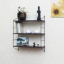 Wanddekorativ Wandregal Eisen Bücherregal Blume Rack Wandmontage Wand Dekorative Regal Wandhalterung Regal ( Farbe : A )