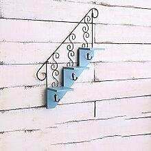 Wanddekorativ Wandregal Eisen Künstlerische Treppenhaus Wand Regal Haus Wohnzimmer Wand Dekorative Regal Wandhalterung Regal ( Farbe : B )