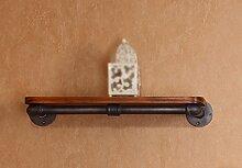 Wanddekorativ Wandregal Eisen Wandhalter Bücherregal Blume Rack Wand Dekorative Regal Wandhalterung Regal ( größe : 50CM*18CM )