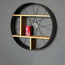 Wanddekorativ Wandregal Retro Eisen überdimensioniert runde Regal Home Shop Wand dekorative Wandhalterung Regal Wandhalterung Regal ( größe : 52cm )